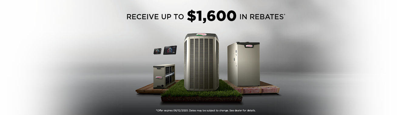 Receive Up To $1,600 in Rebates from Lennox